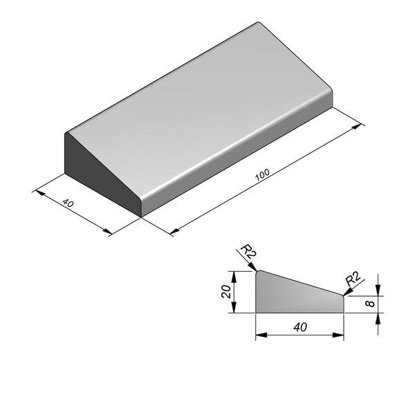 Product image for Inritbanden 20x40 cm 12/40 cm type Deurne midden