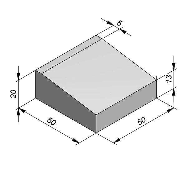Product image for Inritbanden 20x50 cm 7/45 cm type IE midden