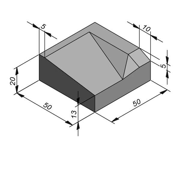 Product image for Inritbanden 20x50 cm 7/45 cm type IE rechts