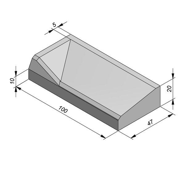 Product image for Inritbanden 20x47 cm 8/42 cm type Vilvoorde links