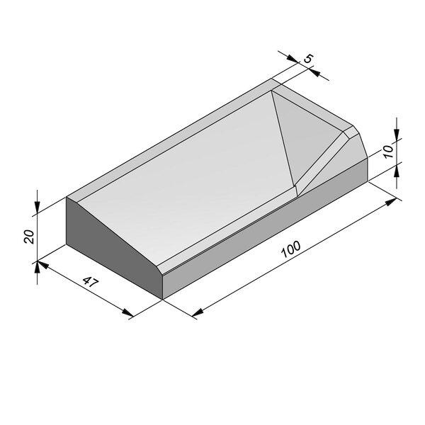 Product image for Inritbanden 20x47 cm 8/42 cm type Vilvoorde rechts