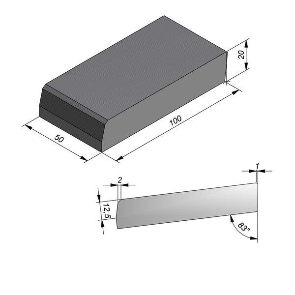 Product image for Streetline Inritbanden Rechte 20x100 cm 2/2 cm midden