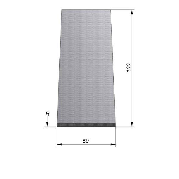 Product image for Streetline Inritbanden Bocht 20x100 cm 2/2 cm midden