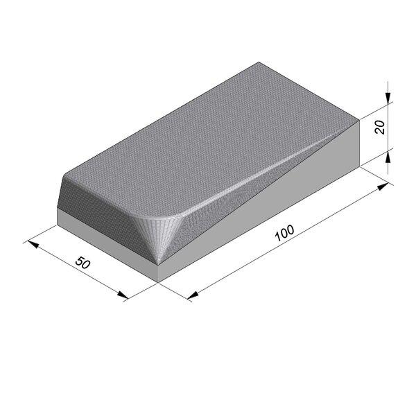 Product image for Streetline Inritbanden Rechte 20x100 cm STIB 12,5/3 cm links