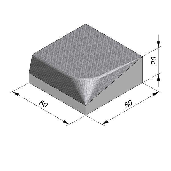 Product image for Streetline Inritbanden Rechte 20x50 cm STIB 12,5/3 cm links