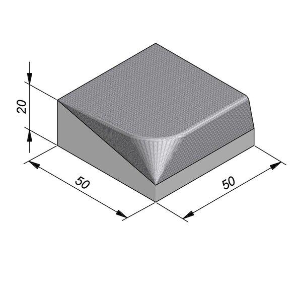 Product image for Streetline Inritbanden Rechte 20x50 cm STIB 12,5/3 cm rechts