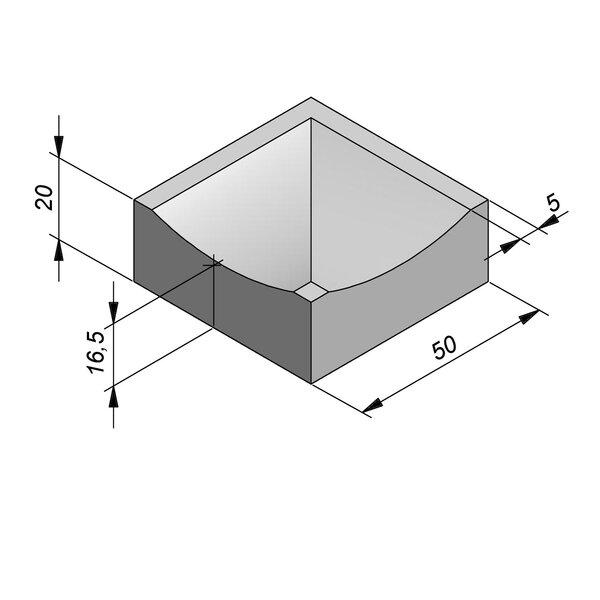 Product image for Watergreppel Hoek 20x50 cm IIA2 90° uitwendig