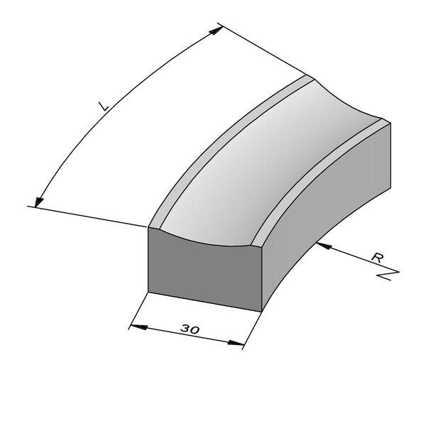 Product image for Watergreppel Bocht 20x30 cm vlak IIE2