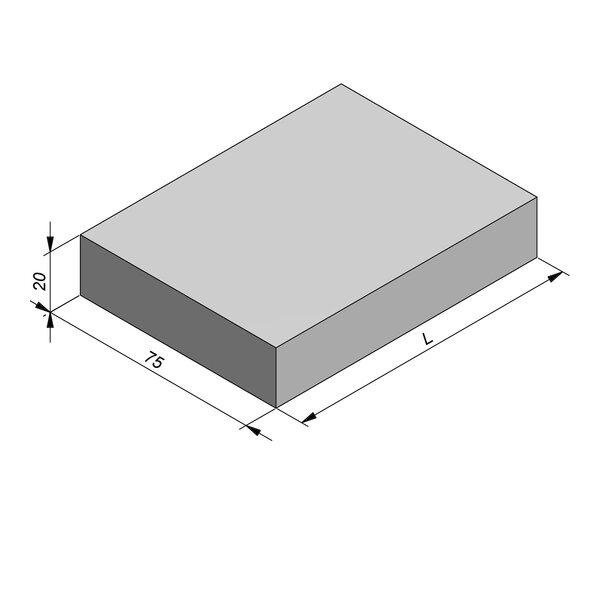 Product image for Kantstrook 20x75 cm