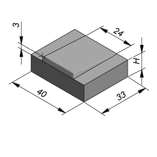 Product image for Bande de contrebutage sonore 33x40 cm