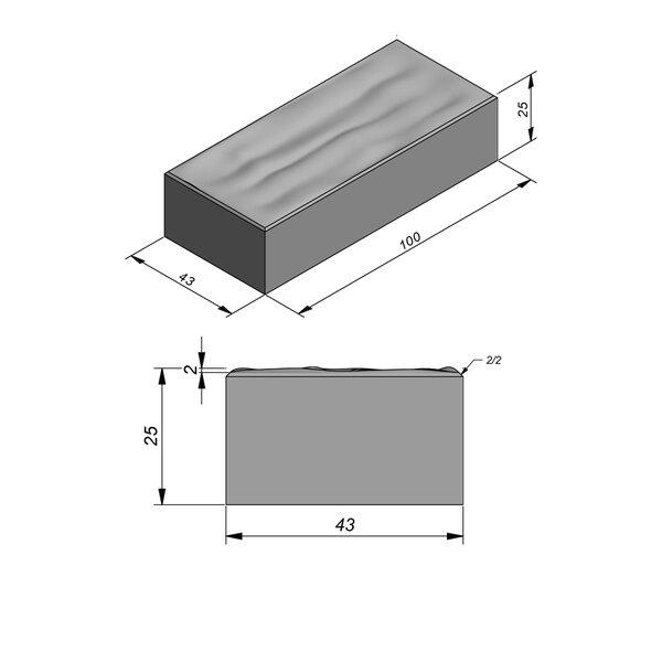 Product image for Bande de contrebutage sonore 25x43 cm