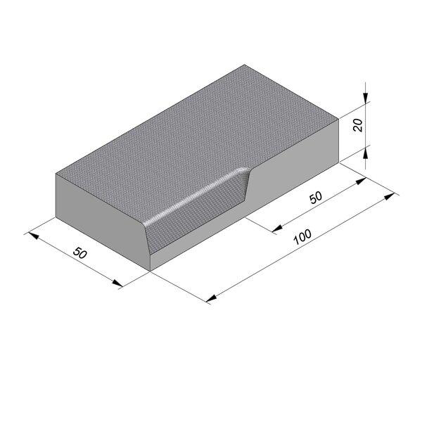 Product image for Streetline Hoek 20x50 cm STIB 12,5/3 cm 90° inwendig