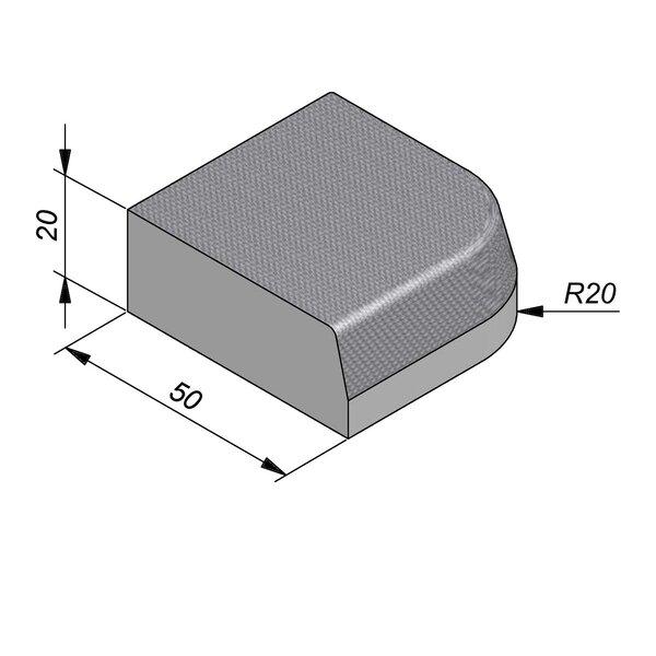 Product image for Streetline Hoek 20x50 cm STIB 12,5/3 cm 90° uitwendig