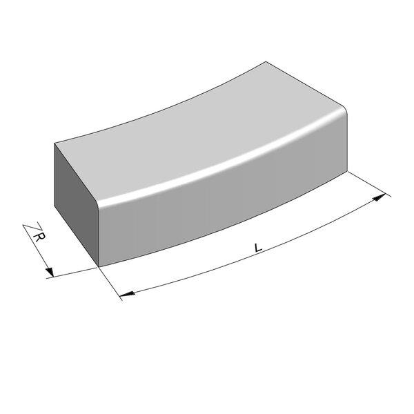 Product image for Escaliers Courbe 78,5 cmx20x30 cm R2 cm extérieur plane