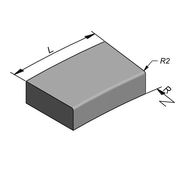 Product image for Escaliers Courbe 78,5 cmx20x50 cm R2 cm extérieur plane
