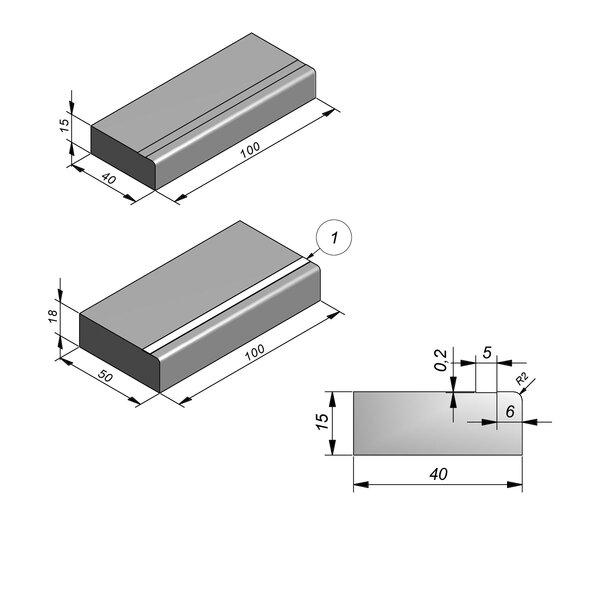 Product image for Mega-escalier 15x40 R2 avec epargnement 0,2x5