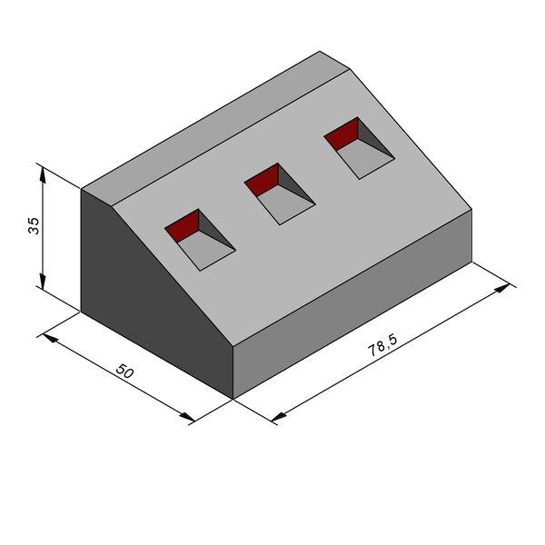 Product image for Elément giratoire 35x50 20/40 cm avec réflecteur rouge