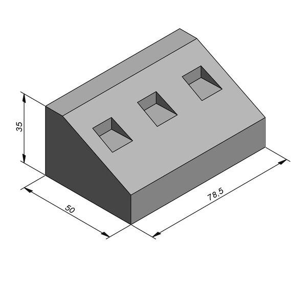 Product image for Elément giratoire 35x50 20/40 cm