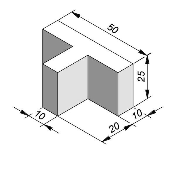 Product image for Wegmarkering Parkeerblok T-stuk