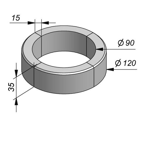 Product image for Boomrand Diam120/90 4-delig type Xhoris