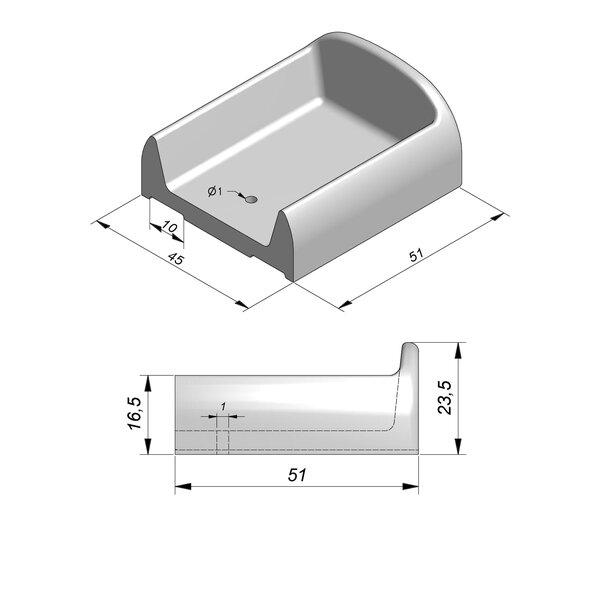 Product image for Decibelblok 51x45x23,5 Met verankering