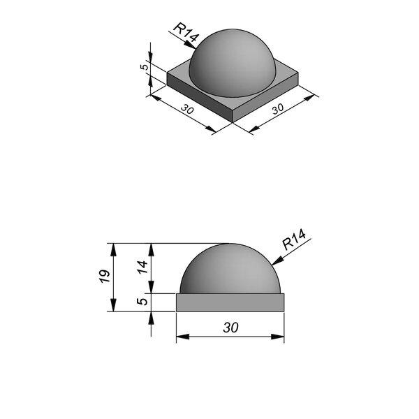 Product image for Scheidingsblokken Demi-Sphere 30x5/14 cm D28 (halve bol)x19 cm