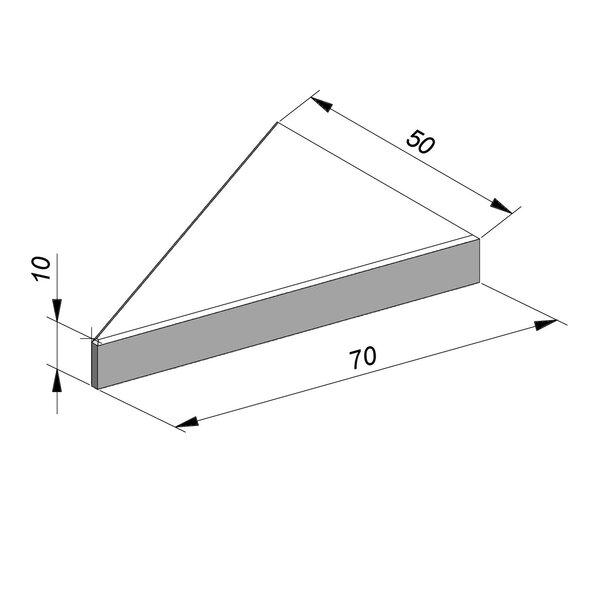 Product image for Marquage routier Dents de requin 70x50 cm centre