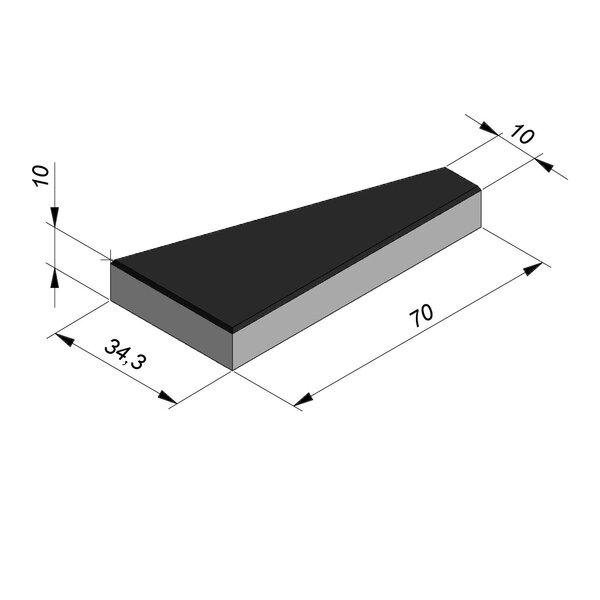 Product image for Marquage routier Dents de requin 70x34,3 cm droite