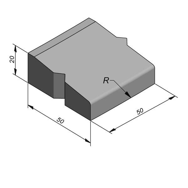 Product image for Elément giratoire Courbe 20x50 8/45 cm