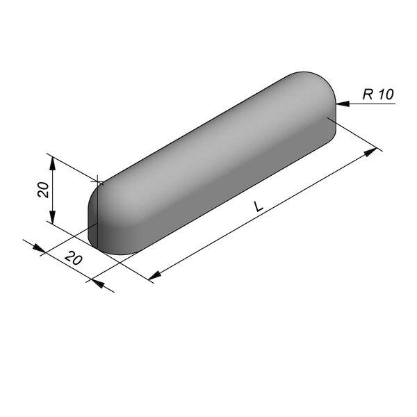 Product image for Bordure de séparation à dos arrondi Bordure convexe 100 cm x 20x20 cm