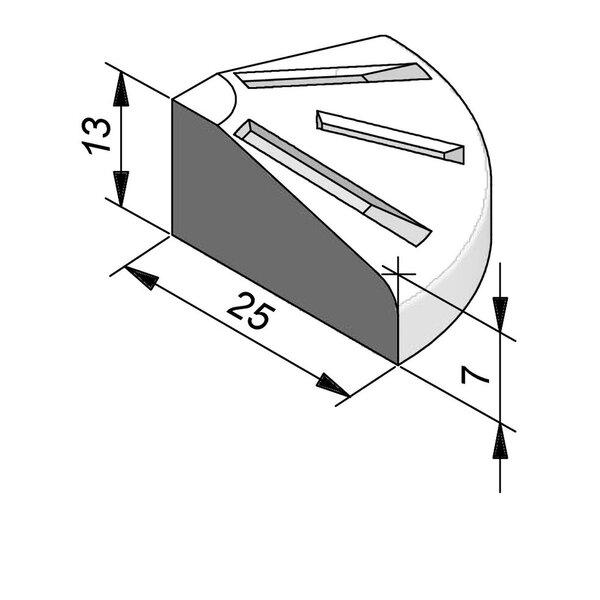 Product image for Bordure d'îlot Pièce de pointe 13x25 cm 0,25 m extérieur