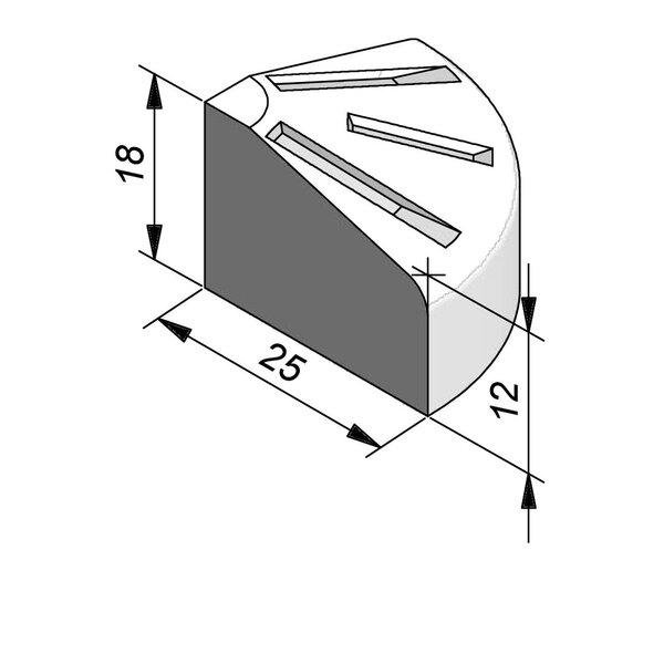 Product image for Bordure d'îlot Pièce de pointe 18x25 cm 0,25 m extérieur