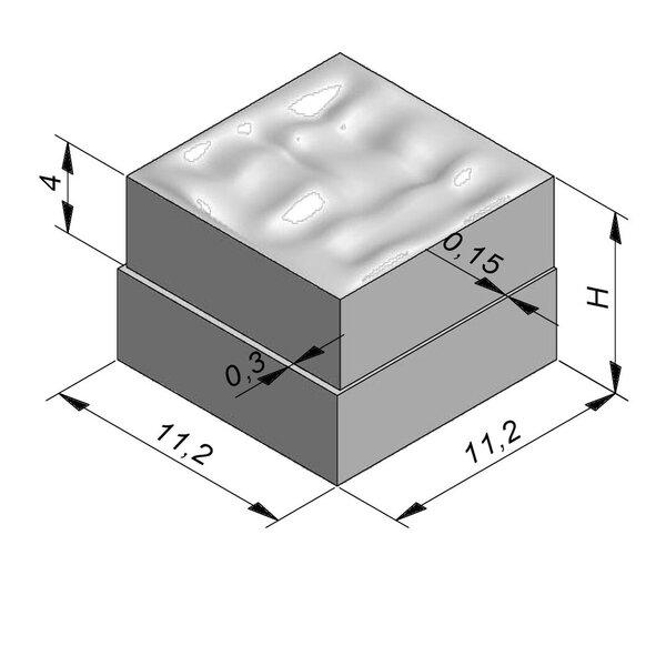 Product image for Betonstraatstenen Cliffstone | Gekliefd Paving 11,2x11,2 cm Vlak