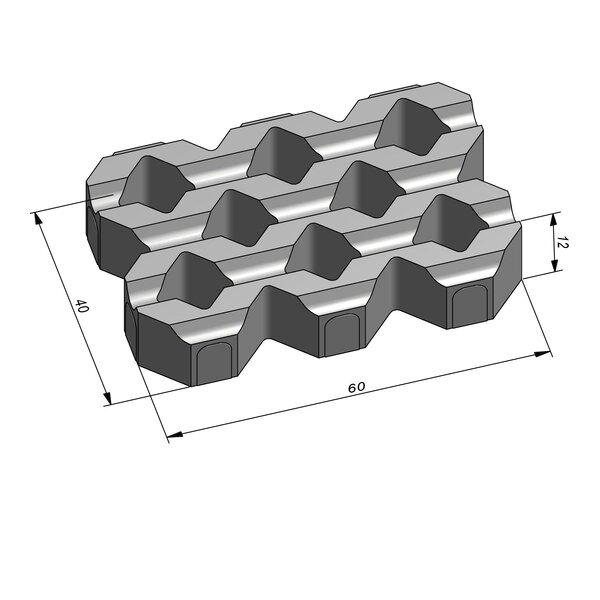 Product image for Eco Solutions Helix Groovy 60x40 cm 2,5/2,5 cm met rechte groeven