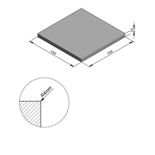 Product image for Megategel Smooth | Fluweelzacht 150x150 cm R4 mm