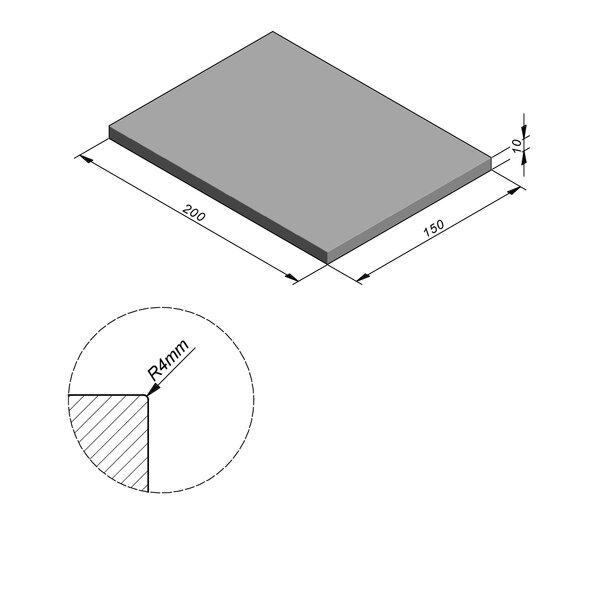 Product image for Megategel Smooth | Fluweelzacht 200x150 cm R4 mm