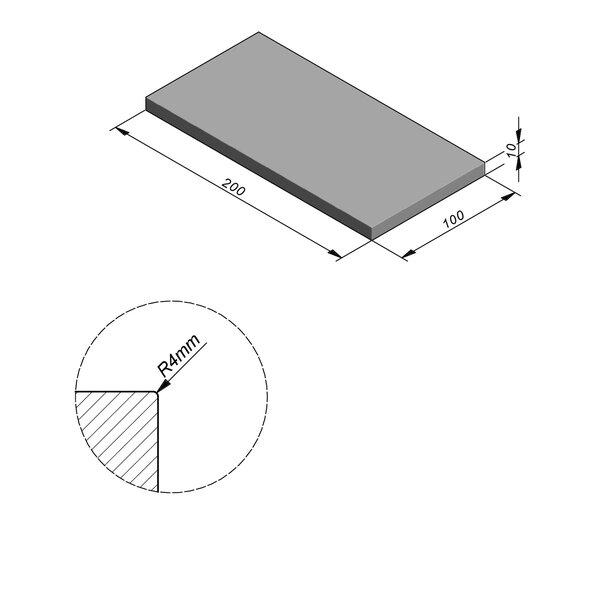 Product image for Megategel Smooth | Fluweelzacht 200x100 cm R4 mm