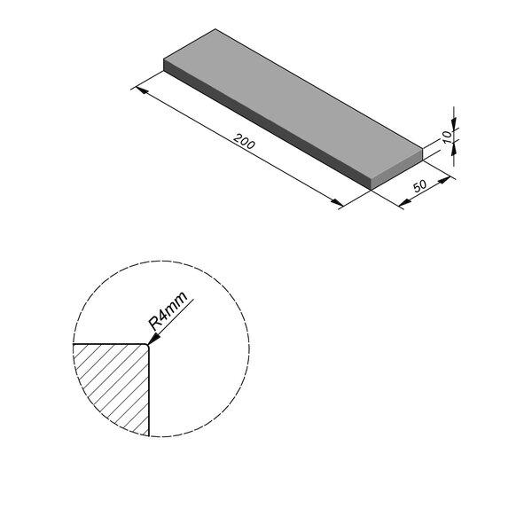 Product image for Megategel Smooth | Fluweelzacht 200x50 cm R4 mm