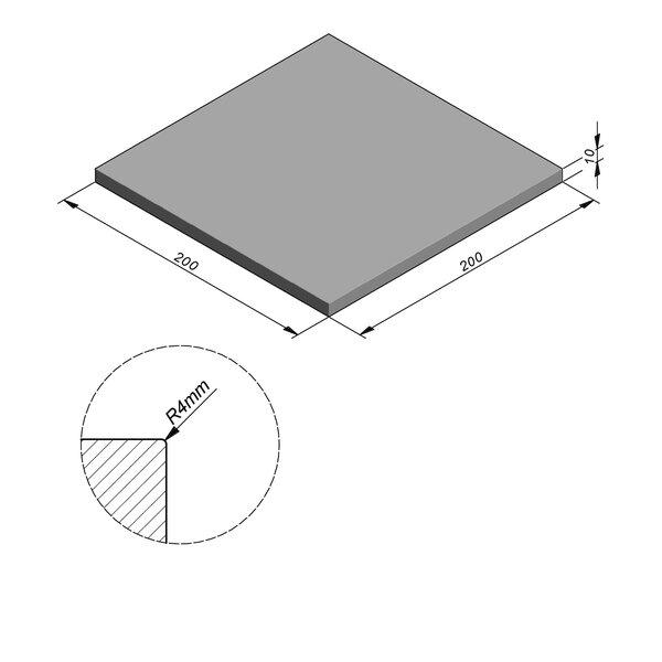 Product image for Megategel Smooth | Fluweelzacht 200x200 cm R4 mm