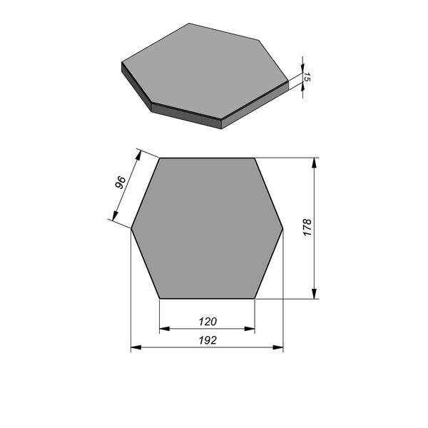 Product image for Tegels Hexagonaal Smooth | Fluweelzacht 192x178 cm 5/5 mm