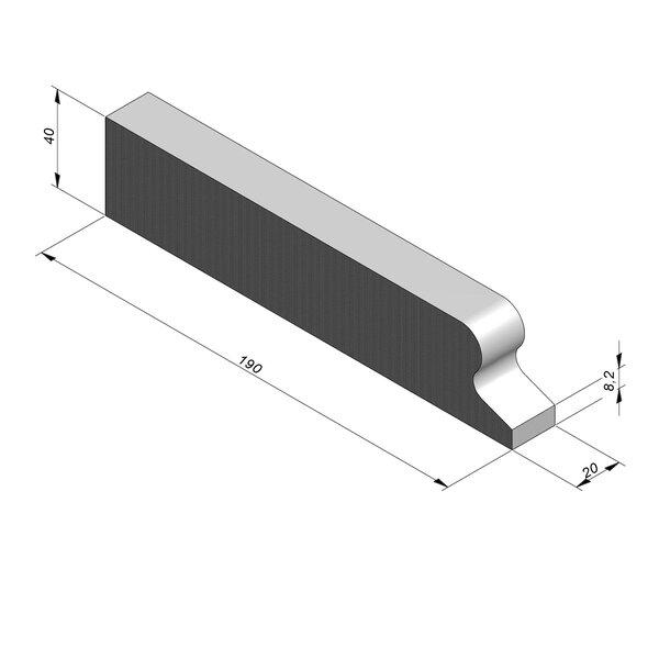 Product image for Bordure chasse-roues bas LS 8/40x190 Droit  élément J