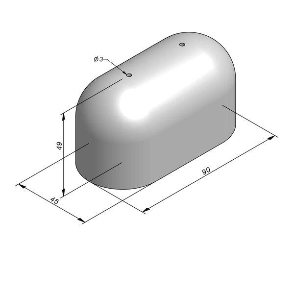 Product image for Bordure de séparation à dos arrondi Bloc Jumbo 49 cmx90x45 cm  Avec ouvertures d'ancrage