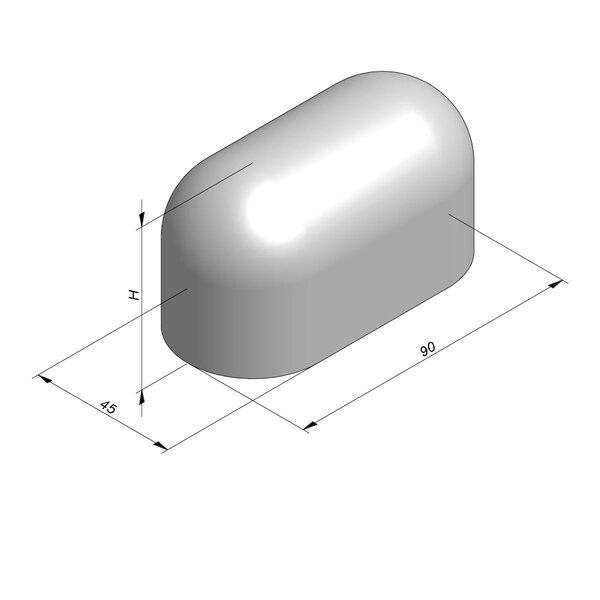 Product image for Bordure de séparation à dos arrondi Bloc Jumbo 49 cm x 90x45 cm