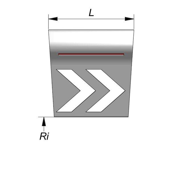 Product image for Elément giratoire Courbe 66/20x80 cm (type Courtrai)