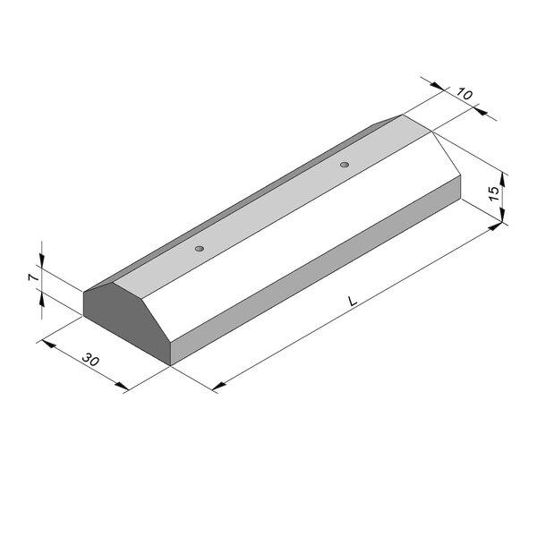 Product image for Vlakke scheidingsband Parkeerblok 10/30 x 7/15 cm