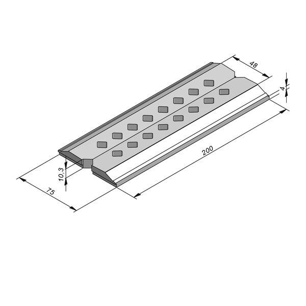 Product image for Muren grachtbodem 200x4/10,3x48/75
