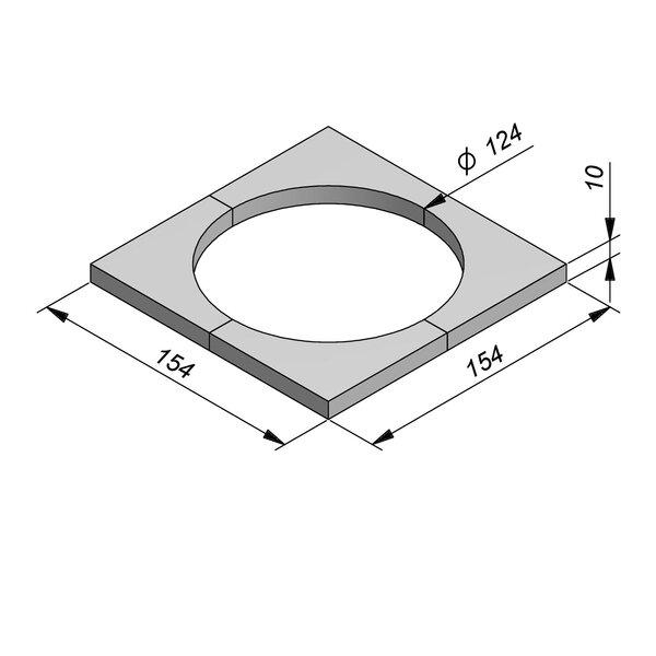 Product image for Boomrand 154x154 Diam125 4-delig type Zaventem