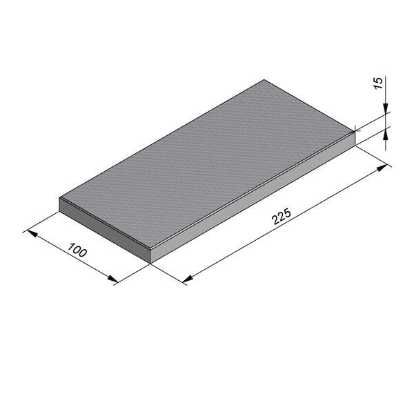 Product image for Dalle de fondation 225x100x15 cm