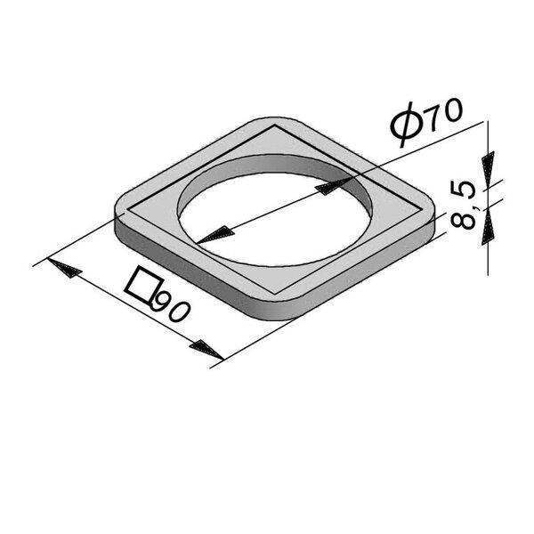 Product image for Anneau de réglage 90x90 cm (Lxl)x8,5cm (H) Diam. 70 cm