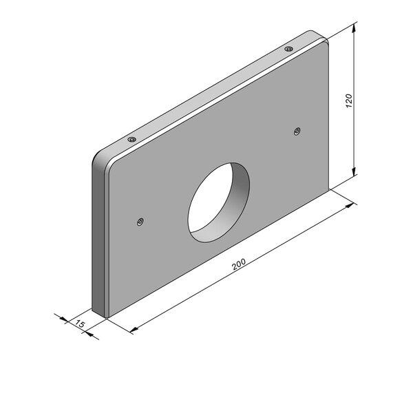 Product image for Muren kopmuur 200x120x15